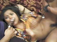 Hairy Indian babe has fun with two horny fuck boys