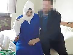 Sexy chick with a white burka gets banged
